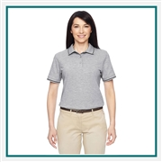 "Harriton Ladies' 5.6 oz. Tipped Easy Blendâ""¢ Polo with Custom Embroidery, Harriton M270W Prime Custom Embroidered, Harriton Corporate Apparel"