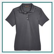 Harriton Ladies' Advantage IL Snap Placket Performance Polo with Custom Embroidery, Harriton M345W Prime Custom Embroidered, Harriton Corporate Apparel