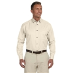 Harriton Men's Easy Blend LS Twill Shirt with Stain-Release with Custom Embroidery, Harriton Branded Shirts