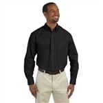 Harriton Men's 3.1 oz. Essential Poplin with Custom Embroidery, Harriton Branded Poplin Shirts
