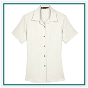 Harriton Ladies' Barbados Cord Camp Shirt with Custom Embroidery, Harriton Branded Shirts