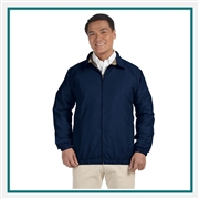 Harriton Adult Microfiber Club Jacket with Custom Embroidery, Harriton M710 Custom Embroidered, Harriton Corporate Apparel