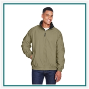 Harriton Adult Fleece-Lined Nylon Jacket with Custom Embroidery, Harriton M740 PrimePlus Custom Embroidered, Harriton Corporate Apparel