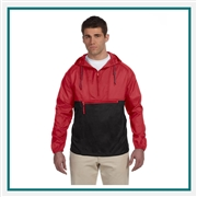 Harriton Adult Packable Nylon Jacket with Custom Embroidery, Harriton M750 PrimePlus Custom Embroidered, Harriton Corporate Apparel