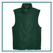 Harriton Adult 8 oz. Fleece Vest with Custom Embroidery, Harriton M985 Prime Custom Embroidered, Harriton Corporate Apparel