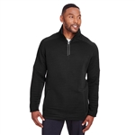 Spyder Men's Capture Quarter-Zip Fleece Pullover Embroidered Logo