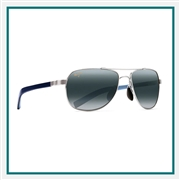 Maui Jim Guardrails Silver Aviator Custom Sunglasses