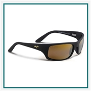 Maui Jim Peahi Matte Black Custom Logo