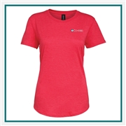 Anvil Ladies Tri-Blend Tee T-Shirt 6750L with Custom Embroidery, Custom Embroidered Anvil T-Shirts, Anvil 6750L T-Shirt Best Price