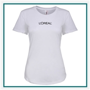 Anvil Ladies Tri-Blend Tee 6750L with Silkscreen Logo, Custom Logo Anvil T-shirts, Anvil  6750L T-shirt Best Price
