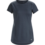 Arcteryx Women's Taema Crew Shirt SS Custom Embroidered