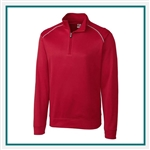 Cutter & Buck L/S Extended Size WeatherTec Ridge Half Zip Pullover with Custom Embroidery, Cutter & Buck Custom Pullovers, Cutter & Buck Corporate Logo Gear