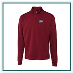 Cutter & Buck M Extended Size DryTec Edge Half-Zip Pullover Custom Embroidered