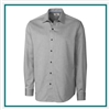 Cutter & Buck Extended Size L/S Epic Easy Care Mini Herringbone Shirt with Custom Embroidery, Cutter & Buck Custom Shirts, Cutter & Buck Corporate Logo Gear