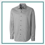 Cutter & Buck Big & Tall L/S Epic Easy Care Mini Herringbone Shirt Custom Embroidered