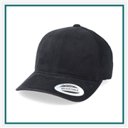 Yupoong Brushed Cotton Twill Mid Profile Cap 6363  with Custom Embroidery, Custom Logo Yupoong Brand Caps, Yupoong Custom Embroidered Caps, Yupoong Custom Logo Hats