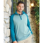 Bobby Jones XH20 Raglan Stripe Quarter-Zip Pullover with Custom Embroidery, Custom Embroidered Bobby Jones Pullovers, Embroidery on Bobby Jones sweaters, Bobby Jones ASI, Bobby Jones Corporate