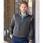 Bobby Jones XH20 Storm Water-Resistant Cotton 1/4-Zip Pullover with Custom Embroidery, Custom Embroidered Bobby Jones Pullovers, Embroidery on Bobby Jones sweaters, Bobby Jones ASI, Bobby Jones Corporate