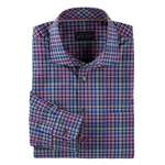 Bobby Jones Spruell Plaid LS Spread Collar Sport Shirt Custom Embroidered