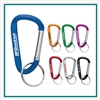 Small Carabiner Key Ring SM-2348 with Logo, Logo Key Chains, Cheap Golf Event Gifts, Corporate Gifts