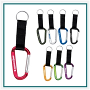 Large Carabiner Key Ring SM-2373 with Logo