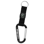 Large Carabiner with Compass SM-2374 Engraved Logo