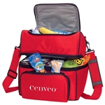 Grande Double Compartment 18-Can SM-7482, Insulated Cooler Bags, Logo Cooler Bags, promo cooler bags, cheap cooler bags