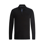 Bugatchi Mercerized Long Sleeve Two Button Polo Custom Embroidered