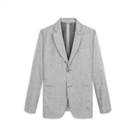 Bugatchi Linen Blend Blazer with Custom Embroidery