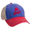 AHEAD 3 Tone Tea Stained Mesh Back Cap with Custom Embroidery, AHEAD Custom Mesh Caps, AHEAD Custom Logo Headwear