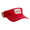 AHEAD Tea Stain Mesh Back Visor with Custom Embroidery, AHEAD Custom Mesh Back Visors, AHEAD Custom Logo Gear