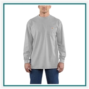 Carhartt Men's Flame-Resistant Carhartt Force Cotton Long-Sleeve T-Shirt 100235 with Custom Embroidery, Carhartt Custom Flame-Resistant T-Shirts