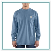 Carhartt Men's Flame-Resistant Carhartt Force Cotton Long-Sleeve T-Shirt 100235 with Custom Embroidered, Carhartt Custom Flame-Resistant T-Shirts