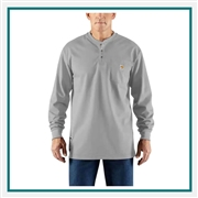 Carhartt Men's Flame-Resistant Carhartt Force Cotton Long-Sleeve Henley 100237 with Custom Embroidered, Carhartt Custom Flame-Resistant T-Shirts, Carhartt Custom Logo Gear