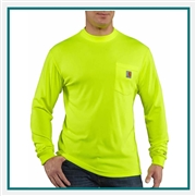 Carhartt Men's Force Color Enhanced Long-Sleeve T-Shirt 100494 with Custom Embroidered, Carhartt Custom Color Enhanced T-Shirts