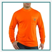 Carhartt Men's Force Color Enhanced Long-Sleeve T-Shirt 100494 with Custom Embroidery, Carhartt Custom T-Shirts, Carhartt Custom Logo Gear