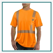 Carhartt Men's Force High-Visibility Short-Sleeve Class 2 T-Shirt 100495 with Custom Embroidery, Carhartt Custom High Visibility T-Shirts, Carhartt Corporate Workwear