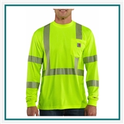 Carhartt Men's Force High-Visibility Long-Sleeve Class 3 T-Shirt 100496 with Custom Embroidery, Carhartt Custom High Visibility T-Shirts, Carhartt Custom Logo Gear