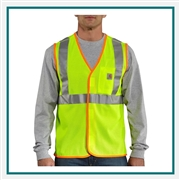Carhartt Men's High-Visibility Class 2 Vest 100501 with Custom Embroidered, Carhartt Custom High Visibility Vests, Carhartt Custom Logo Gear