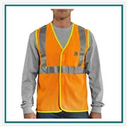 Carhartt Men's High-Visibility Class 2 Vest 100501 with Custom Embroidery, Carhartt Custom High Visibility Vests, Carhartt Custom Workwear