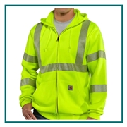 Carhartt Men's High-Visibility Zip-Front Class 3 Sweatshirt 100503 with Custom Embroidery, Carhartt Custom Workwear Sweatshirts, Carhartt Branded Workwear