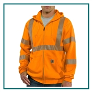 Carhartt Men's High-Visibility Zip-Front Class 3 Sweatshirt 100503 with Custom Embroidery, Carhartt Custom Workwear Sweatshirts, Carhartt Corporate & Group Sales