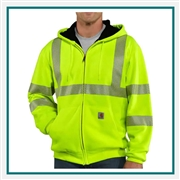 Carhartt Men's High-Visibility Zip-Front Class 3 Thermal-Lined Sweatshirt 100504 with Custom Embroidery, Carhartt Custom Thermal Sweatshirts, Carhartt Branded Workwear