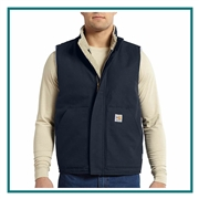 Carhartt Men's Flame-Resistant Mockneck Vest 101029 with Custom Embroidery, Carhartt Custom Flame Resistant Vests, Carhartt Custom Logo Gear