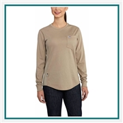 Carhartt Women's FR Force Cotton Long-Sleeve Crewneck T-Shirt 102685 with Custom Embroidery, Carhartt Custom Flame-Resistant T-Shirts, Carhartt Custom Logo Gear