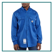 Carhartt Men's Flame-Resistant Lightweight Twill Shirt FRS003 with Custom Embroidery, Carhartt Custom Flame Resistant Shirts, Carhartt Custom Logo Gear