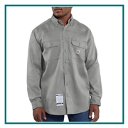 Carhartt Men's Flame-Resistant Lightweight Twill Shirt FRS003 with Custom Embroidery, Carhartt Custom Flame Resistant T-Shirts, Carhartt Corporate Sales