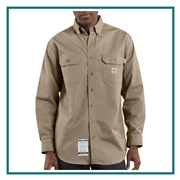 Carhartt Men's Flame-Resistant Twill Shirt With Pocket Flap FRS160 with Custom Embroidery, Carhartt Custom Flame Resistant Shirts