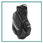 Cleveland Golf  Black Cart Bag with Custom Embroidery, Custom Embroidered Cleveland Golf Cart Bags, Cleveland Golf Custom Logo Bags, Custom Cleveland Golf Golf Bags