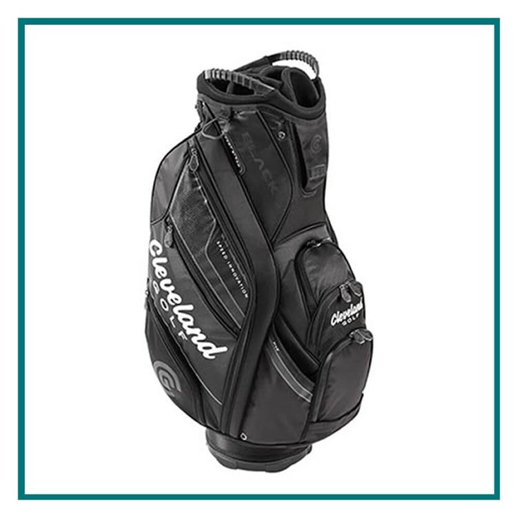 Cleveland Golf Black Cart Bag with Custom Embroidery, Custom Embroidered  Cleveland Golf Cart Bags,